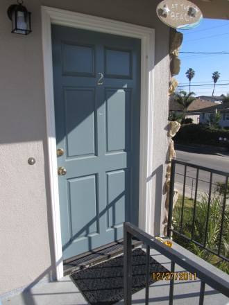 Front door - upstairs-Trigo side